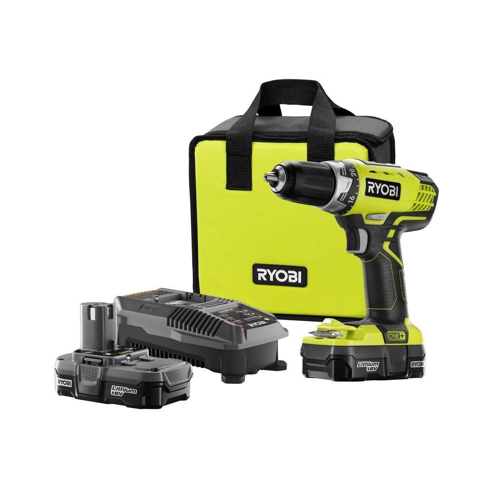 nib new ryobi p1811 one 18v lithium ion drill driver kit. Black Bedroom Furniture Sets. Home Design Ideas