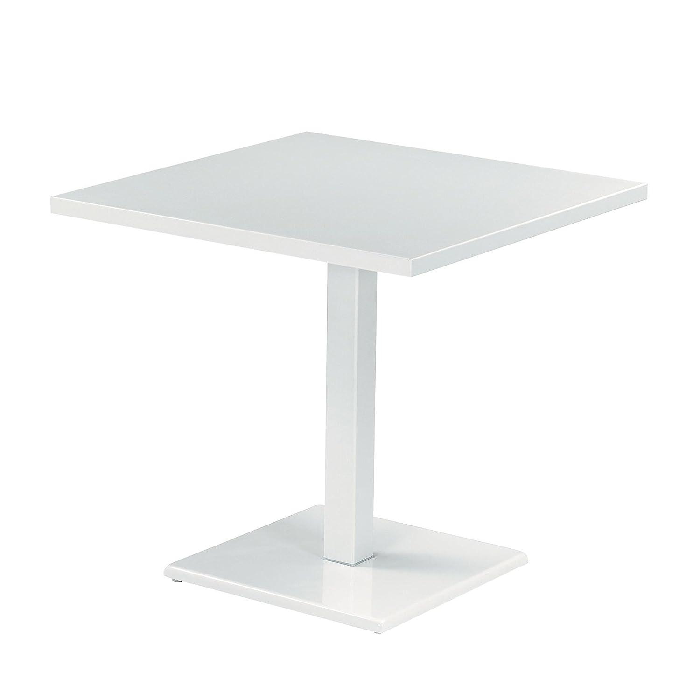 emu Round Gartentisch quadratisch, weiß lackiert LxBxH 80x80x75cm