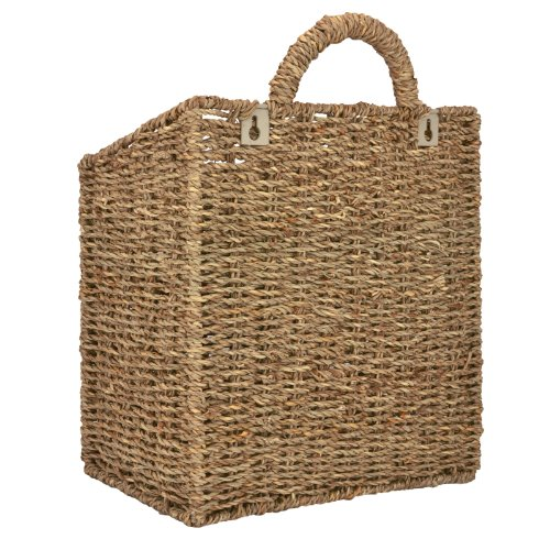Woven Hanging Wall Mounted Basket Rustic Home Décor ...