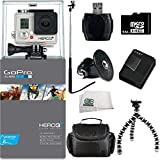 GoPro HERO3+ Silver Edition Camera Kit Includes: 64GB Micro SD Card, USB Memory Card Reader, Replacement Battery, Charger, Case, Gripster Tripod & Monopod