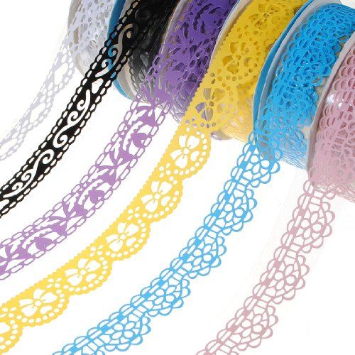 Plastic Hollow Lace Decorative Sticker Adhesive Tape . (Filigree Basket compare prices)