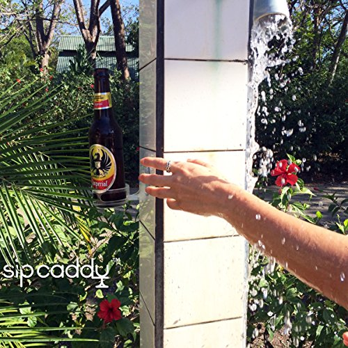sipcaddy portable Cupholder Caddy pour bière et vin de douche à ventouse Porte-gobelet