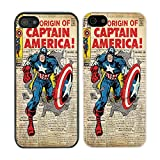 DC Marvel Comic Book Cover case for Apple iPhone 5C - Captain America - 883 - Black
