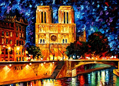 NOTRE DAME DE PARIS is the ONE-OF-A-KIND, ORIGINAL hand painted oil painting on Canvas by Leonid AFREMOV