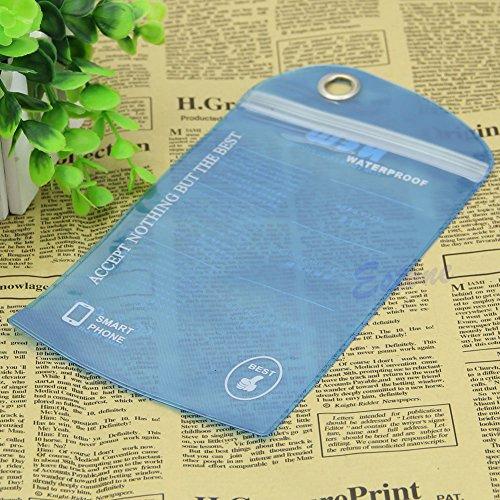 Bestdeal® Wasserdichte Hülle Tasche Case für Mobile Handy Kamera (Blau)