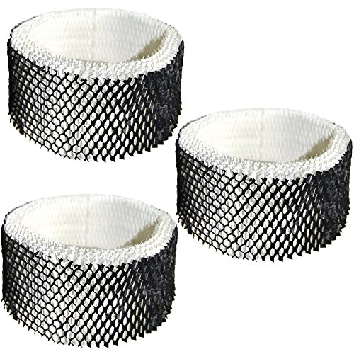 HQRP Filter 3-Pack for Sunbeam SWF62-CN1 #SWF-62 SWF62 SF-212 SF212 SCM1100 SCM1701 SCM1702 SCM1761 SCM1762 SCM2409 SCM41000 Humidifier + HQRP Coaster (Sunbeam Humidifier Filter Scm1701 compare prices)