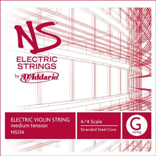 D'Addario Ns Electric Violin Single G String, 4/4 Scale, Medium Tension