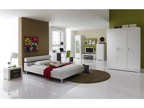 Meise Möbel 332-10-10000 Polsterbett Anello mit Kunstlederbezugbezug, Liegefläche, circa 100 x 200 cm, weiß