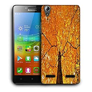 Snoogg Yellow Leaf Tree Printed Protective Phone Back Case Cover For Lenovo A6000