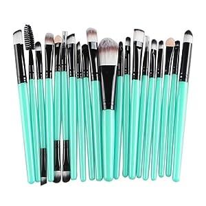 Makeup Brush Set Tools, Doinshop 20 pcs Make-up Toiletry Kit Wool Make Up Brush Kit (Black)