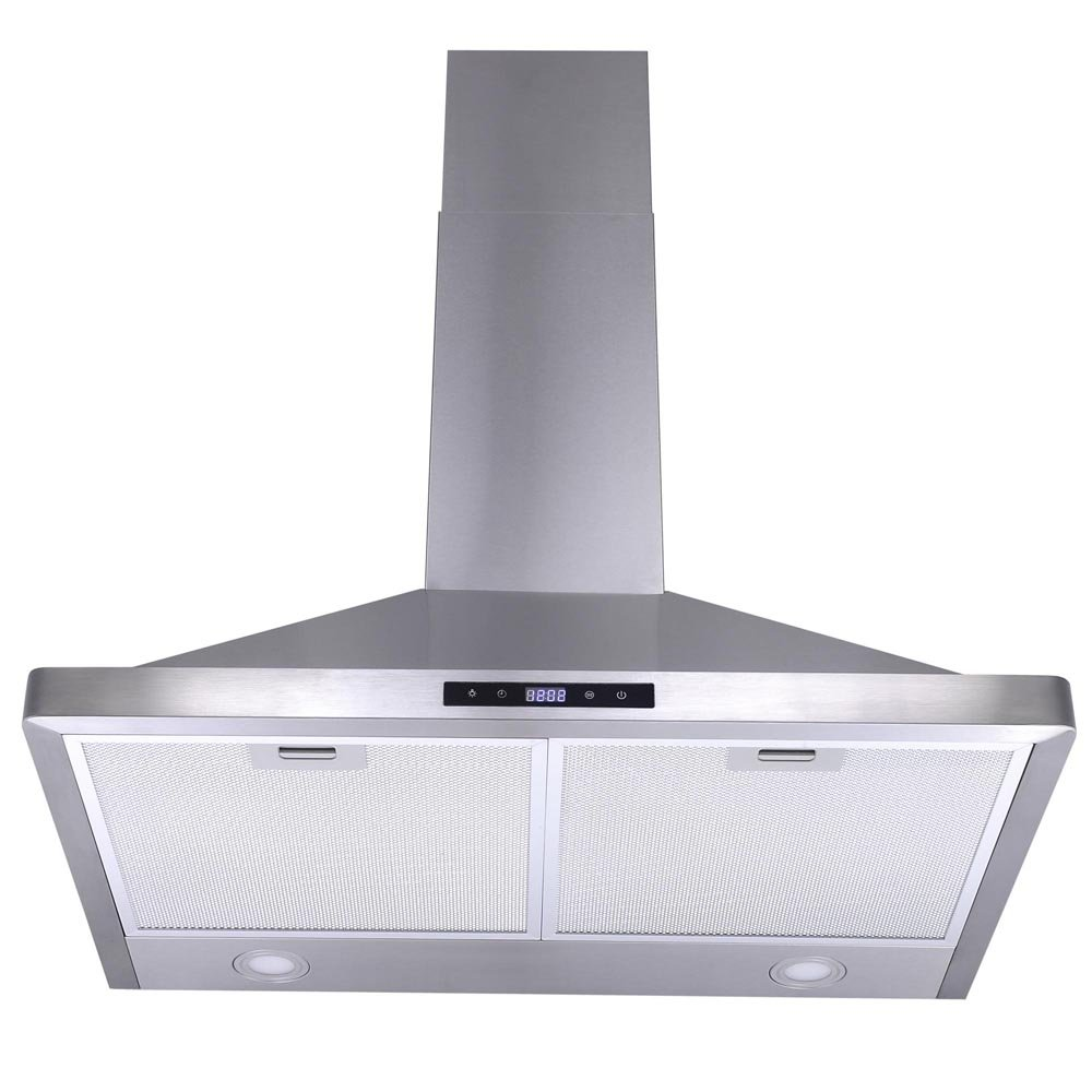 "Yescom 30"" Kitchen Wall Mount Stainless Steel 3 Speed Touch Panel Control Range Hood 760CFM Stove Vents"