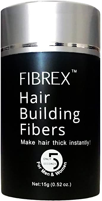 Fibrex Hair Building Thickening Fibers Loss Concealer Dark Brown 15g 0.52oz at amazon