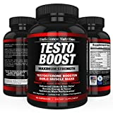 TESTOBOOST Testosterone Booster Supplement | Potent & Natural Herbal Pills | Boost Men Muscle Growth, Sex Drive, Energy | Tribulus, Horny Goat Weed, Hawthorn, Zinc, Minerals | BioScience Nutrition USA