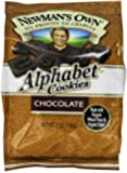 Newman's Own Alphabet Cookies, Chocolate, 7-Ounce Bags (Pack of 6)
