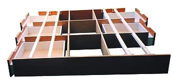 Socket de cajón con 6cajones con placas de suelo, Schubladensockel AHORN, 180 x 200 cm