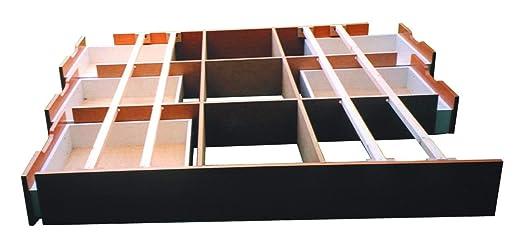 Los cajones de la base con 6 cajones de incluido el suelo de las placas, Schubladensockel AHORN, 180 x 200 cm