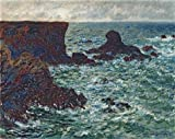 The High Quality Polyster Canvas Of Oil Painting 'Rocks At Port-Coton, The Lion, 1886 By Claude Monet' ,size: 10x13 Inch / 25x32 Cm ,this Replica Art DecorativePrints On Canvas Is Fit For Study Decor And Home Decoration And Gifts