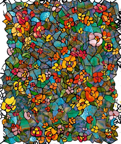 d-c-fix® Like-Contact (self adhesive vinyl window film) Stained Glass Effect Venetian Garden 45cm x 2m (Stained Glass Film)