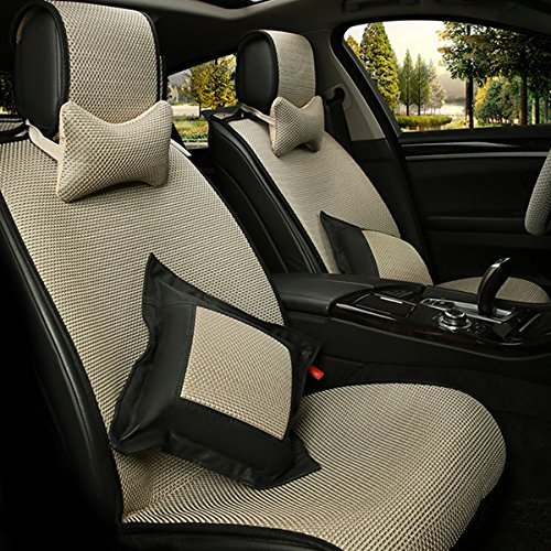 Oroyal Universal Fit Car Seat Cover Set Top Grade Fabric Comfortable Design Bright Colors (Universal Fit For Most Cars, SUV, Trucks or Vans) (Beige) (06 Ford Seat Covers compare prices)