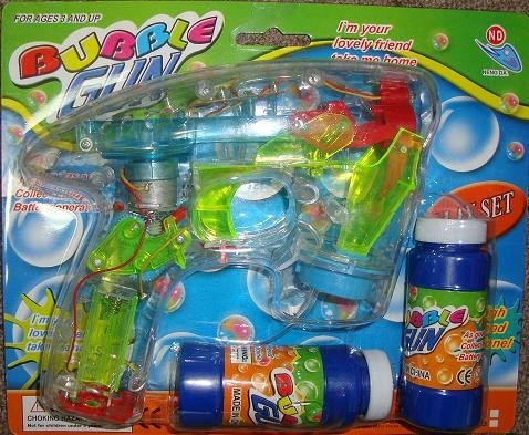 LED Bubble Gun - Funny Play Set - Battery Operated - Background Design may vary - 1