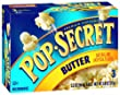 Pop Secret Butterflavor, Microwavable Popcorn, 3-Count, 10.5-Ounce Box (Pack of 6)