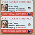 Emotional Support Dog ID Key Tags ( Set of 3) By XpressID