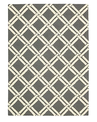 Nourison Linear Geometric Rug, Grey/Ivory, 5' x 7'