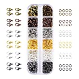 Mudder 6 Colors Lobster Claw Clasps and 6 Colors Open Jump Rings for Jewelry Making