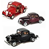 Best of 1930s Diecast Cars - Set 6 - Set of Three 1/24 Scale Diecast Model Cars