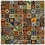 100 Hand Painted Talavera Mexican Tiles 4x4 Spanish Influence by Casa Daya Tile