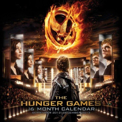 Posters: The Hunger Games Poster Calendar - Official Calendar 2013 (12 x 12 inches)
