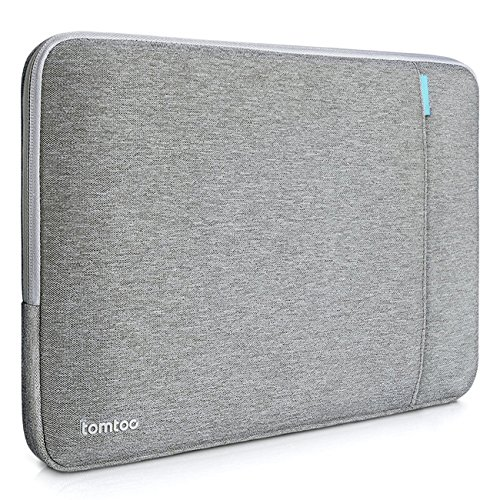 Tomtoc 360° Protective Sleeve for 15 Inch MacBook Pro Retina Ultrabook Netbook Tablet, Shockproof, Spill-Resistant, Gray