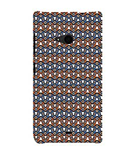 Abstract Wave Pattern 3D Hard Polycarbonate Designer Back Case Cover for Nokia Lumia 535 :: Microsoft Lumia 535