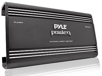 Pyle PLA4478 Amplificateur pontable à 4 canaux Mosfet 4000 W