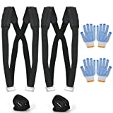 Moving Straps, MYFREE Moving and Lifting Straps Easily Move, Lift, Carry, And Secure Furniture, Appliances, Heavy Objects Without Back Pain (Color: Black, Tamaño: Large)