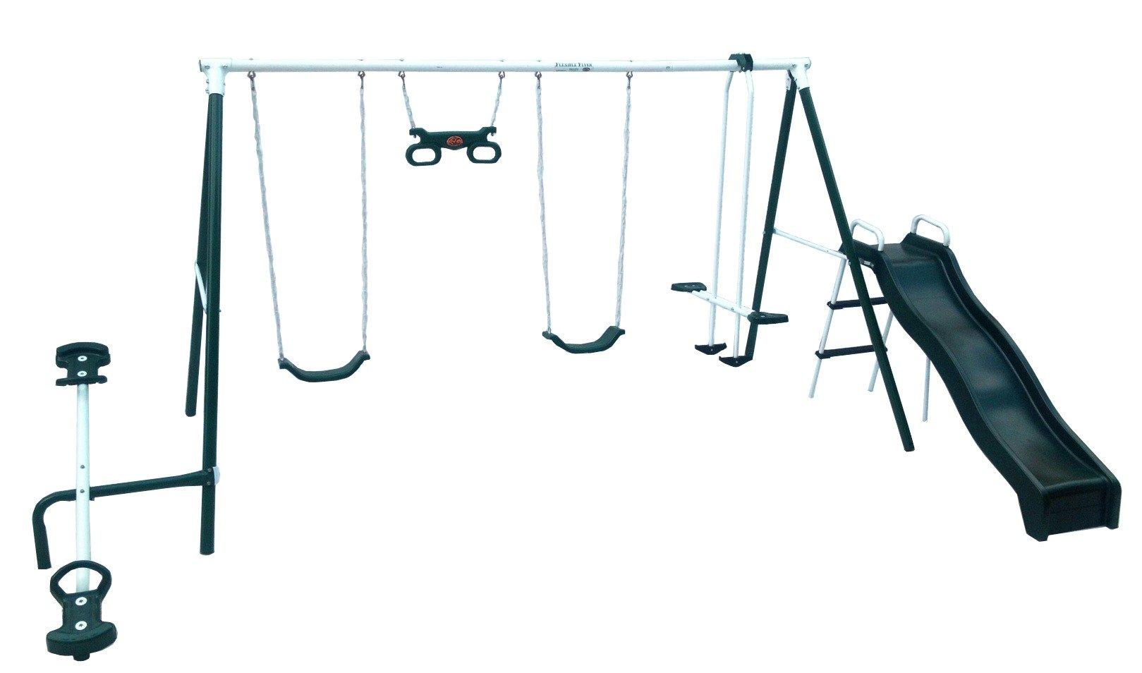 Awesome Flexible Flyer Backyard Swingin Fun Metal Swing Set
