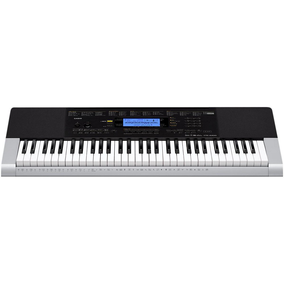 Casio Inc. CTK4400 61-Key Touch Sensitive Personal Keyboard with Power Supply
