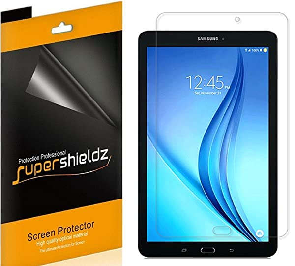 [3-Pack] Supershieldz for Samsung Galaxy Tab E 9.6 inch, High Definition Clear Shield + Lifetime Replacement (Color: Clear)