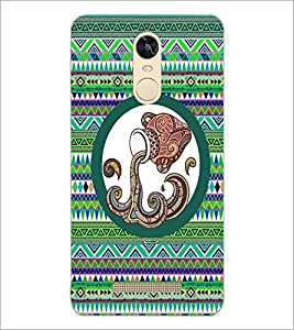 PrintDhaba Tribal Pattern D-3013 Back Case Cover for XIAOMI REDMI NOTE 3 PRO (Multi-Coloured)