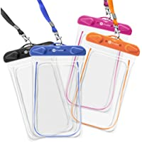 4-Pack F-color Clear Transparent TPU Waterproof Case (Assorted Colors)