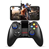 Mobile Game Controller, PowerLead PG8710 Gaming Controller Wireless 4.0 Gamepad Perfect for PUBG & Fotnite & More, Support iOS Android iPhone iPad Samsung Galaxy (Color: Black)