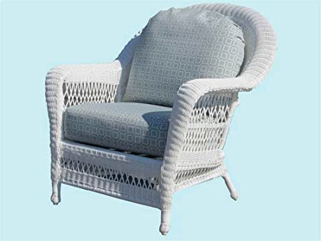 Wicker Armchair with Cushion (Husk Chocolate (All Weather))