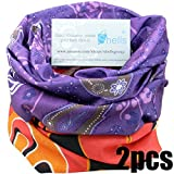 Shells 2PCS Purple Underwater World Pattern Red Flame Pattern Polyester Microfiber Outdoor Sport Mag