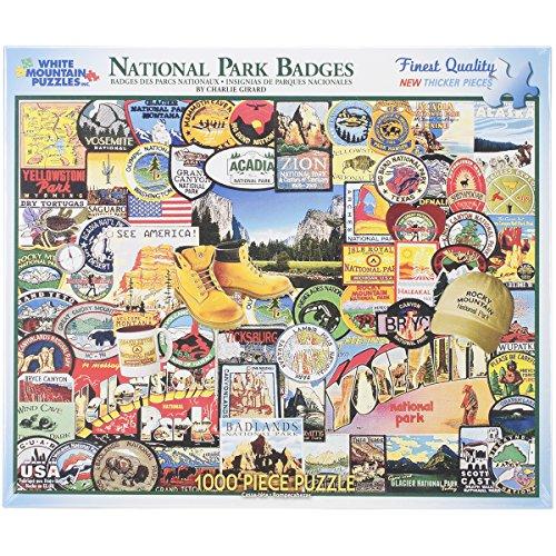 National Park Badges - 1000 Piece Jigsaw Puzzle