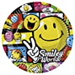 Amscan - 8 Assiettes Smiley Comic