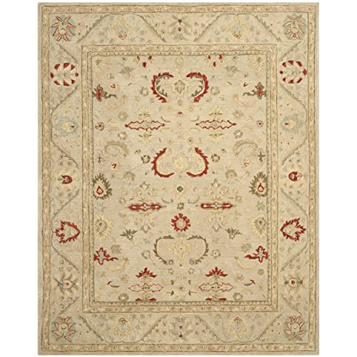 Safavieh Anatolia Collection AN570A Handmade Beige Wool Area Rug, 8 feet by 10 feet (8' x 10')