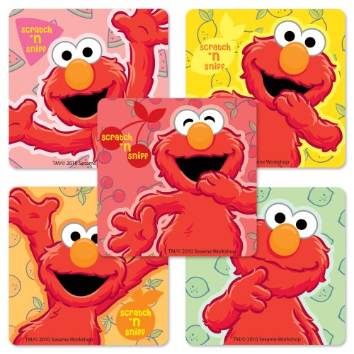 Scented Elmo Stickers - 50 Per Pack