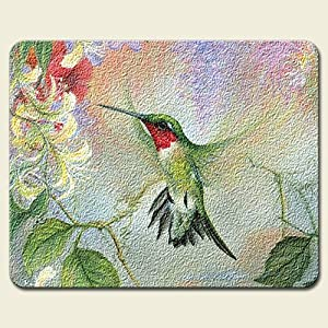Hummingbird Glass Cutting Board Kitchen Home