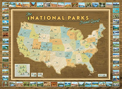 Travel international tour management institute itmi national parks travel quest poster map your travels sciox Gallery