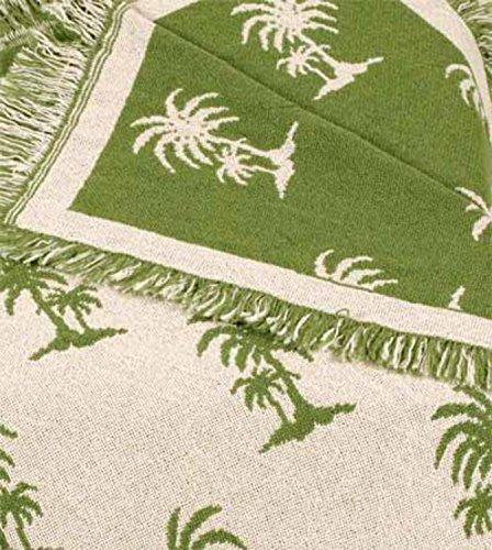 avocado-castaway-green-palm-tree-eco2cotton-afghan-throw-blanket-50-x-60